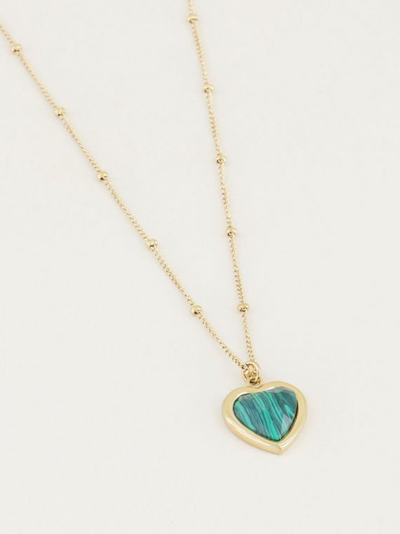 MJ – PowerStones Necklace – Malachite (goud of zilver )