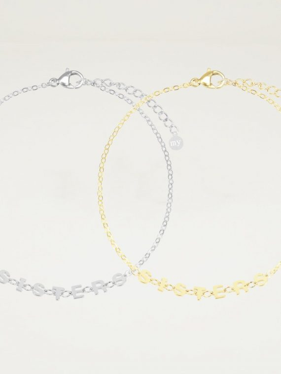sisters armband goud – zilver