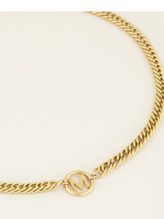 chunky-initial-ketting-goud