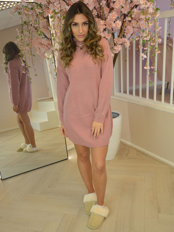Comfy Coll Dress – Pink