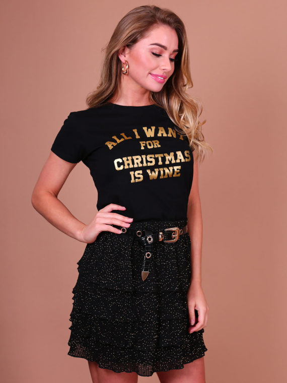 All I Want Tee – Black/Gold