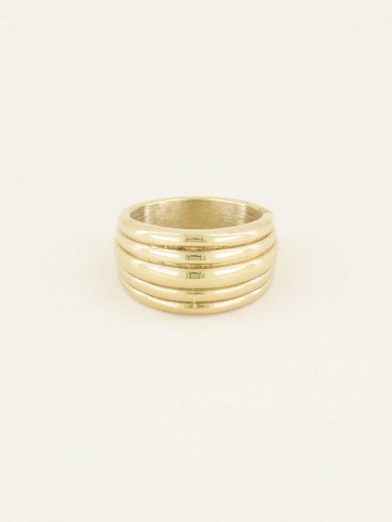 My Jewellery – Ring met laagjes (goud of zilver)