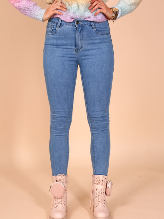Basic Skinny Jeans – Light Blue