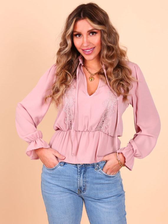 Lace Blouse – Pink