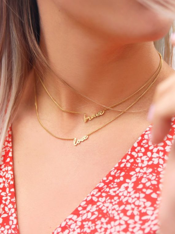 My Jewellery – Ketting love (goud of zilver)