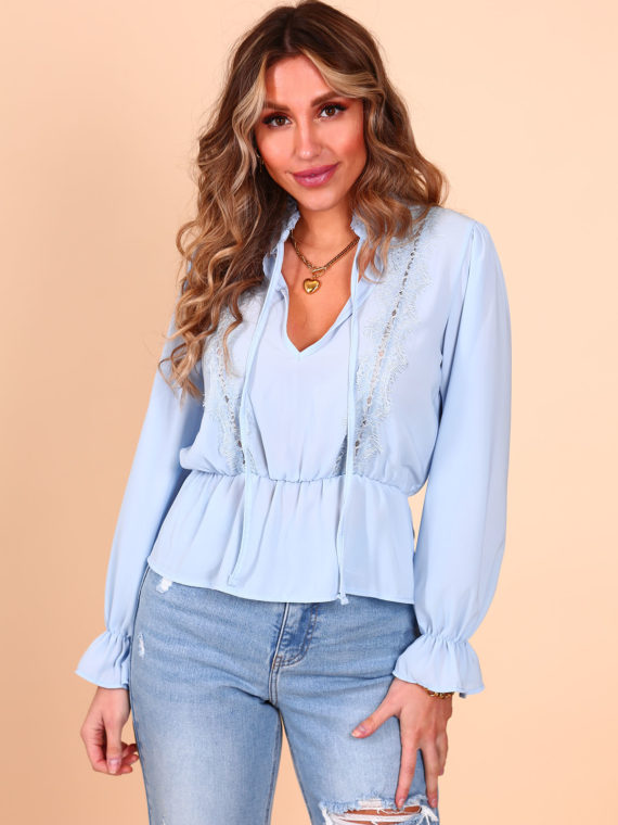 Lace Blouse – Baby Blue