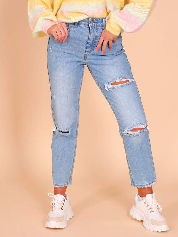 Cindy Ripped Mom Jeans