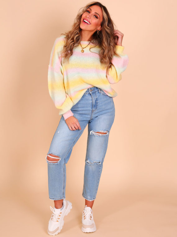 Rainbow Sweater – Mint/Yellow