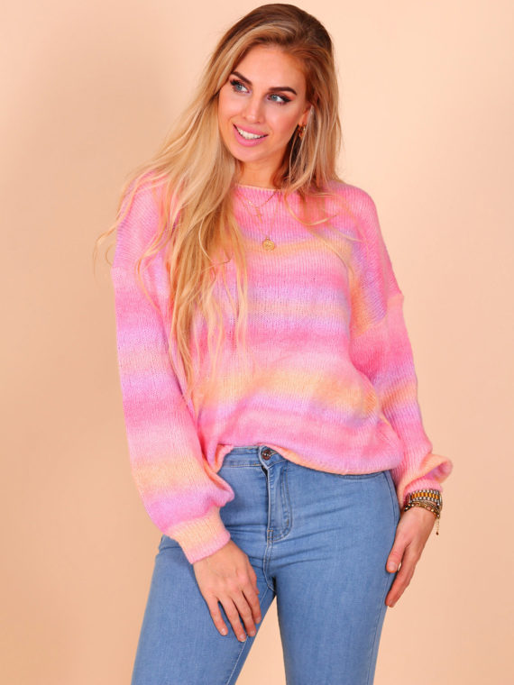 Rainbow Sweater – Pink/Yellow