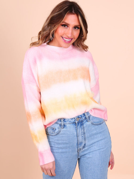 Sunny Rainbow Sweater – Pink/Orange