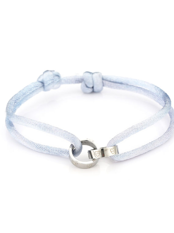 MB – Touw Armbandje Forever Connected – Blauw (Zilver)