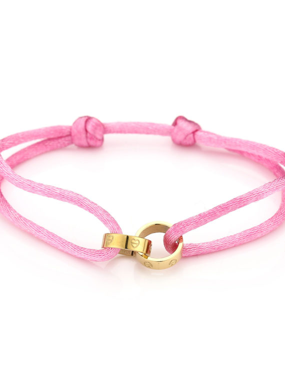 MB – Touw Armbandje Forever Connected – Roze (Goud of Zilver)