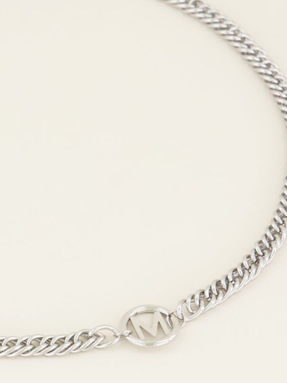 My Jewellery – Ketting Chunky Initials Silver