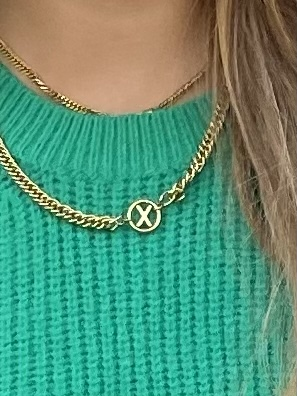 My Jewellery – Ketting Chunky Initials Gold