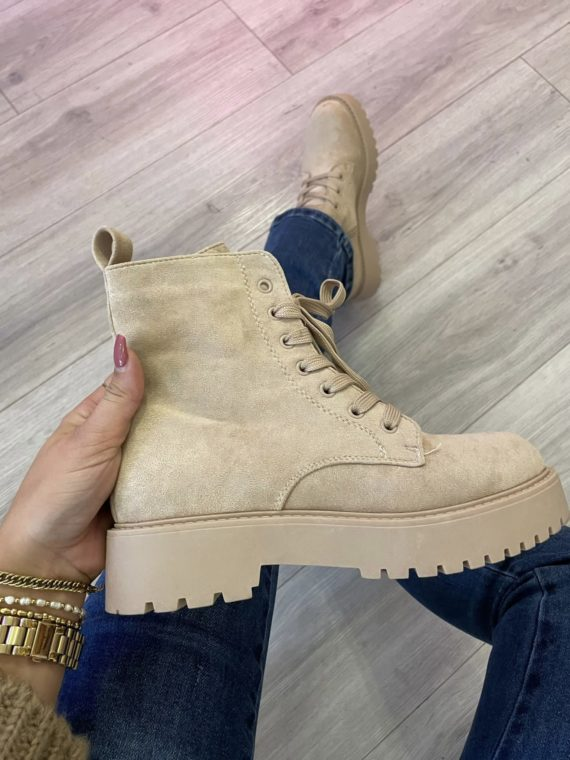 Low Chunky Boots – Beige