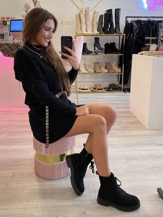 Low Chunky Boots -Zwart